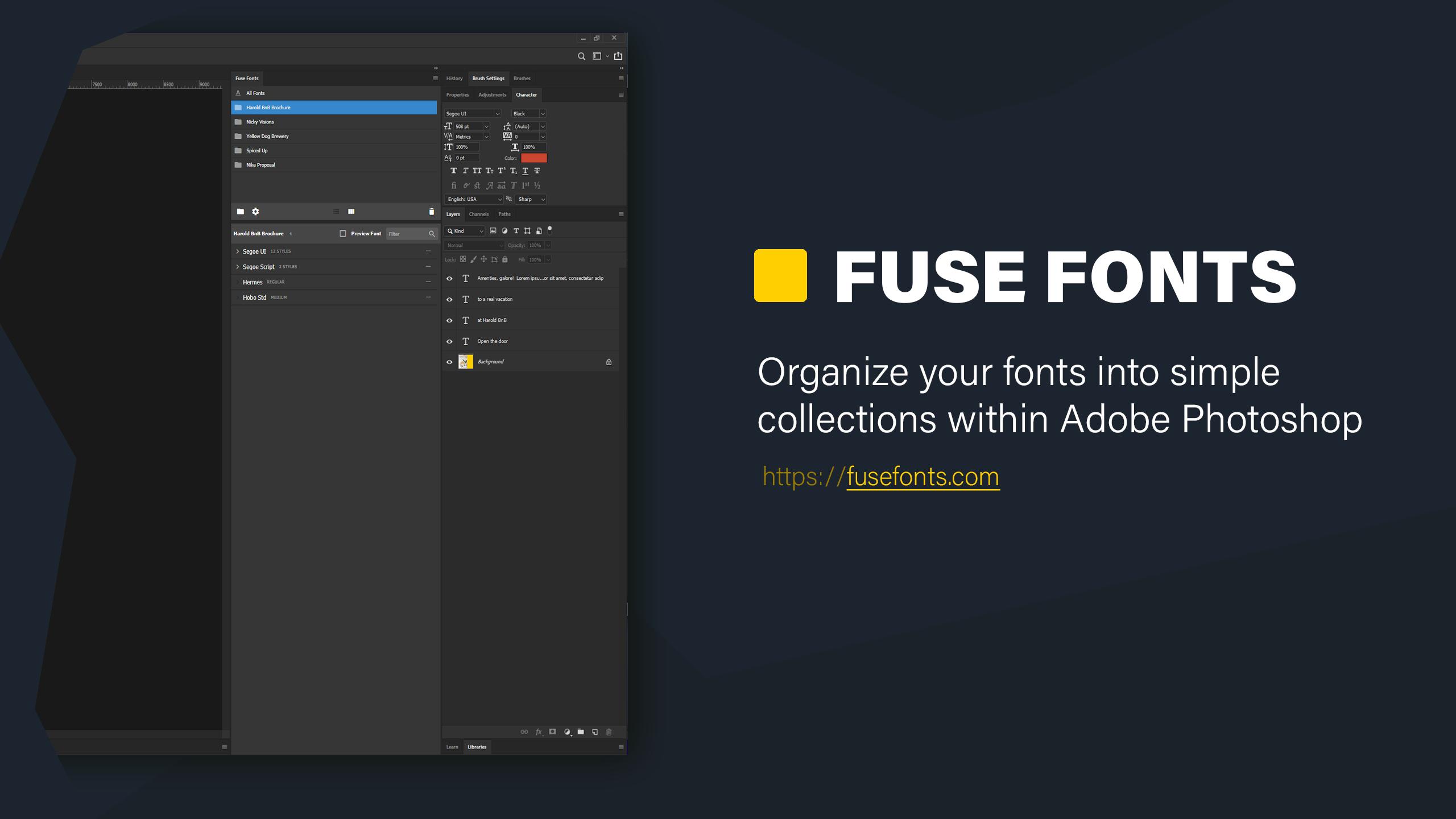 Fuse Fonts Promo